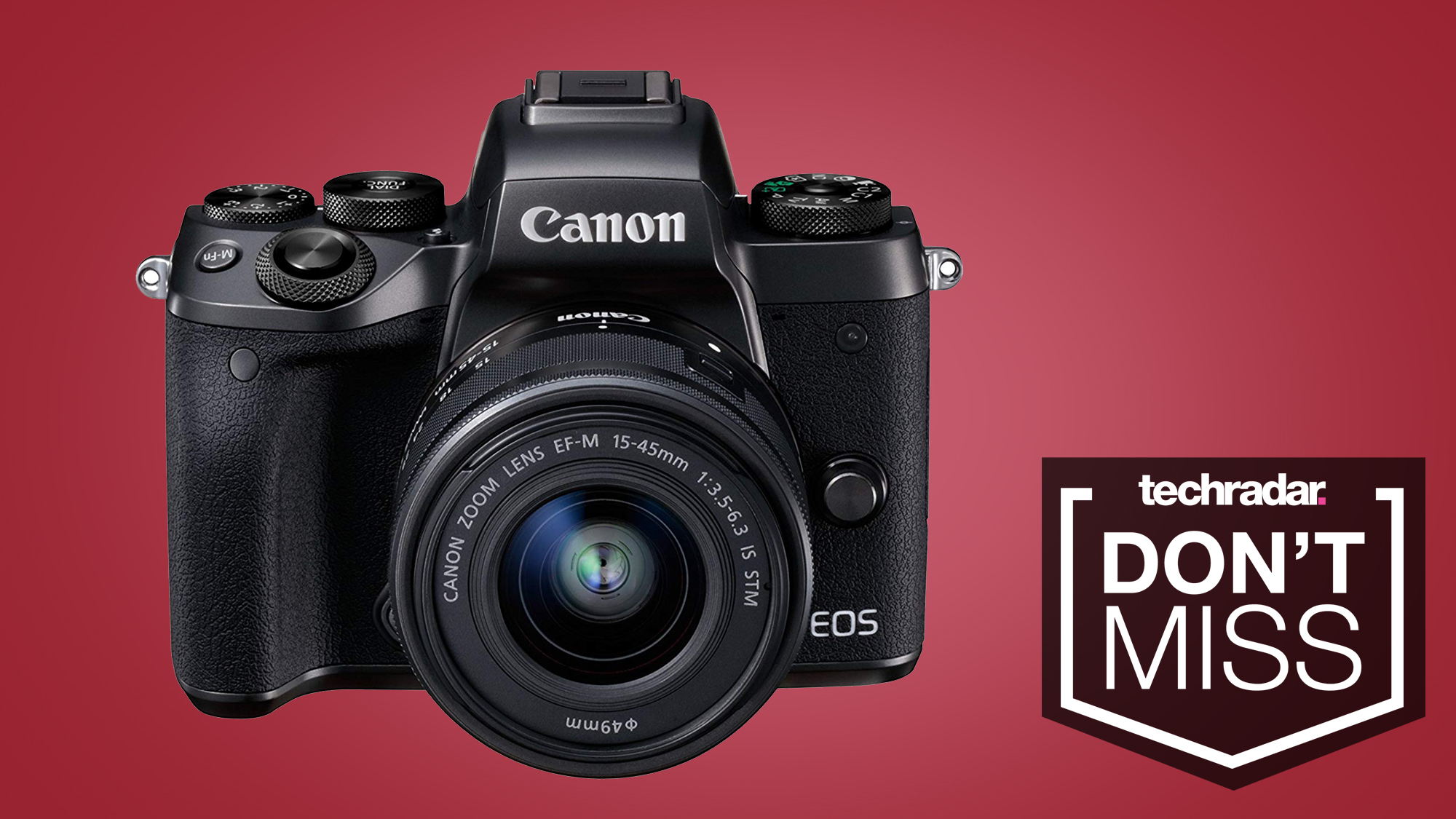 Canon EOS M5 hits lowest ever price in this 40% off deal