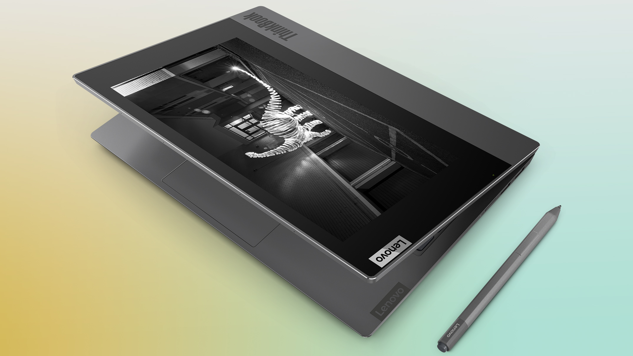 Lenovo's ThinkBook Plus has an E Ink touchscreen built into the lid
